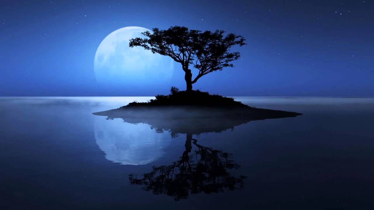 Deep Calming Music Under Full Moon Peaceful Night