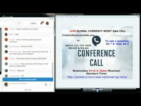 LIVE Global Currency Reset CALL & VIDEO CHAT - 9/14/2016