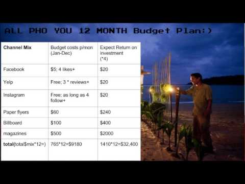 12 month budget plan youtube