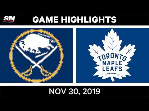 NHL Highlights | Sabres Vs. Maple Leafs – Nov. 30, 2019
