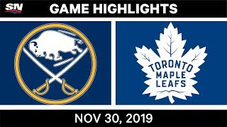 NHL Highlights   Sabres vs. Maple Leafs – Nov. 30, 2019