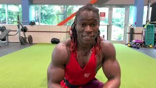 Alseny's Chest, Triceps, Biceps, leg Workout, best bodyweight training Transformation, Amazing Train