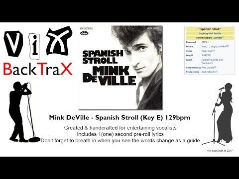 ViX BackTraX - Mink DeVille - Spanish Stroll (Key E) 129bpm (Backing Track)