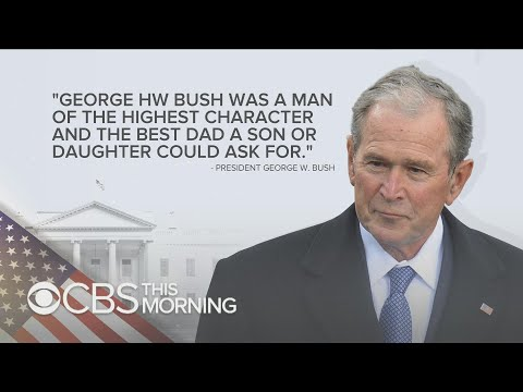 Former presidents pay tribute to George H.W. Bush