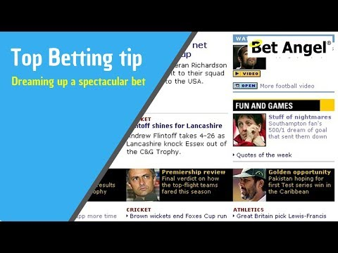Peter Webb - Bet Angel - The silliest bet I ever placed and it won!