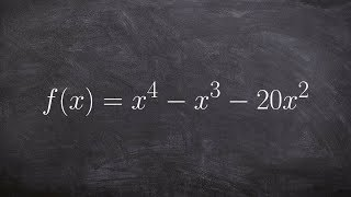 Pre-Calculus - Finding the zeros and multiplicity of a quadratic function f(x) = x^4‐x^3‐20x^2