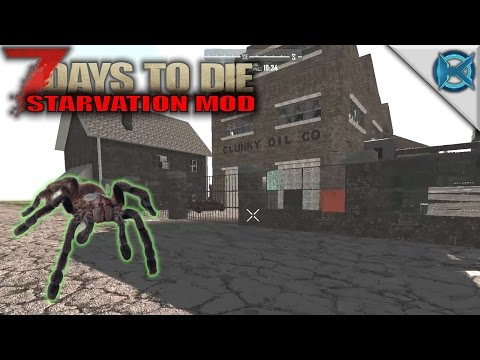 7 Days to Die Modded | Giant Spiders & Clunky Oil Co | SP Let's Play Gameplay | A15 S01E02