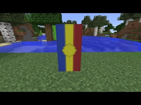 How to make the National Flag of Andorra [AND]//Minecraft
