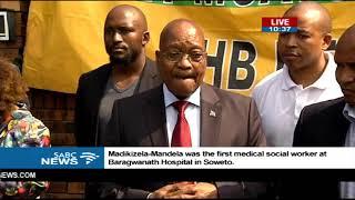 Jacob Zuma pays respects at mama Winnie's home