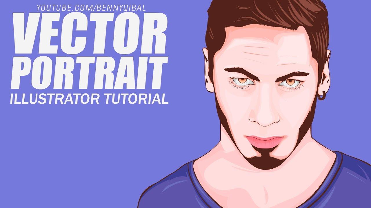 Man Vector Portrait Illustrator Tutorial - YouTube