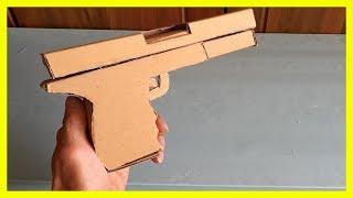 Chế súng Lục đồ chơi Từ Bìa Catong Cực Chất | Thích Sáng Chế