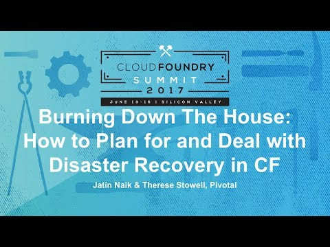 Burning Down The House: How to Plan for and Deal with Disaster Recovery in CF