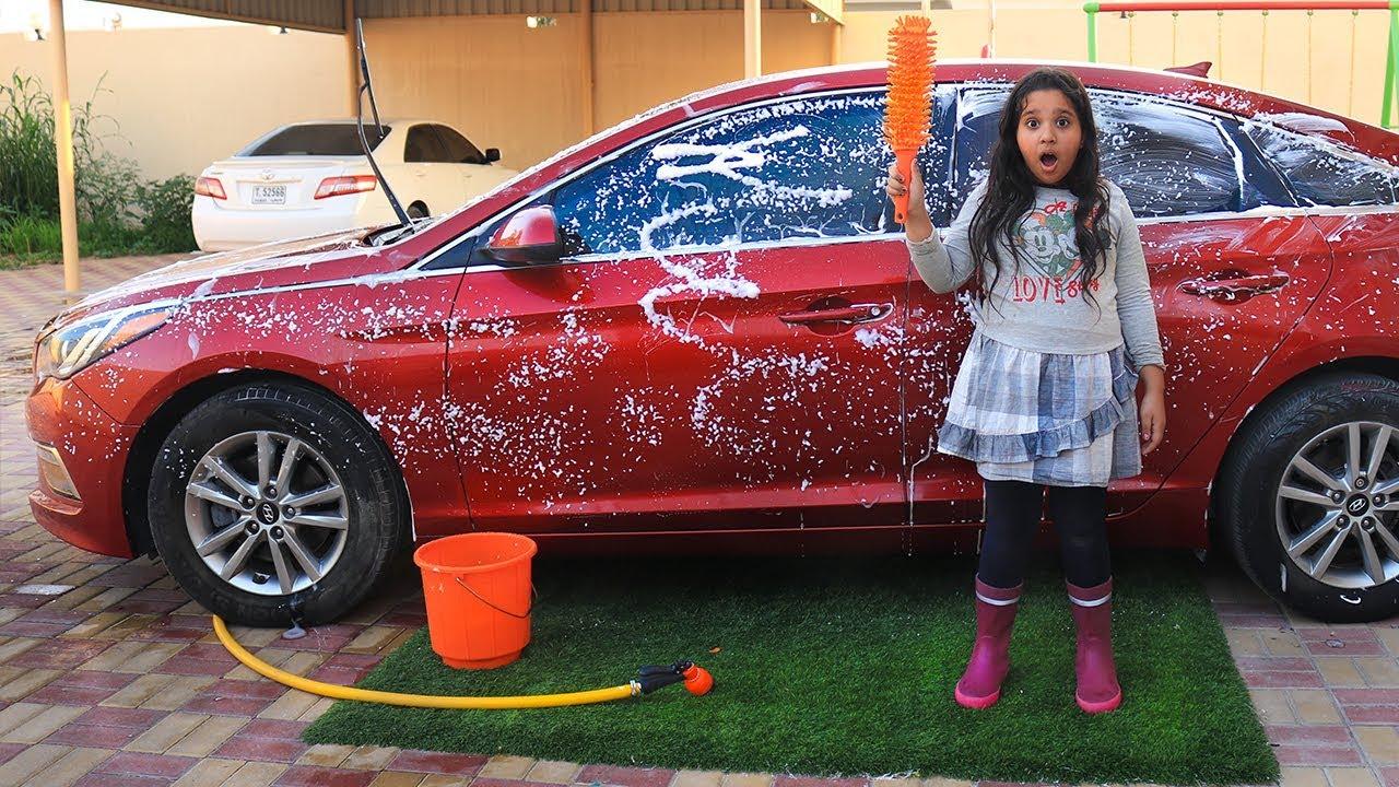 شفا تغسل سيارة ماما Shfa Washes Car Mom Youtube