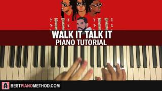 HOW TO PLAY - Migos - Walk It Talk It (Piano Tutorial Lesson)