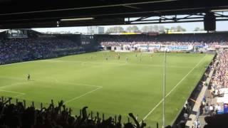 1-1 bij de Graafschap - Ajax : PEC Zwolle-PSV : 8/5/2016 : 1-3