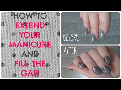 How to Extend any Manicure SNS Nail Polish