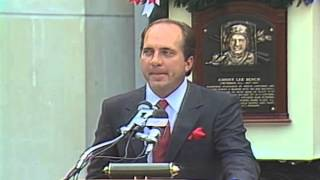 Johnny Bench 1989 Hall of Fame Induction Speech