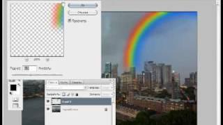 Уроки фотошопа CS3 - Добавление радуги на фотографию.avi