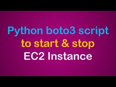 Start and Stop AWS EC2 instance using Python boto3