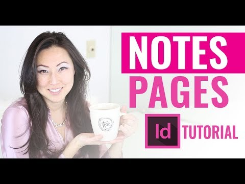 How To Create Lined Pages In InDesign - Notes Pages