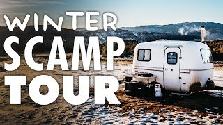 Scamp Tour WINTER Edition // 13ft Scamp Trailer