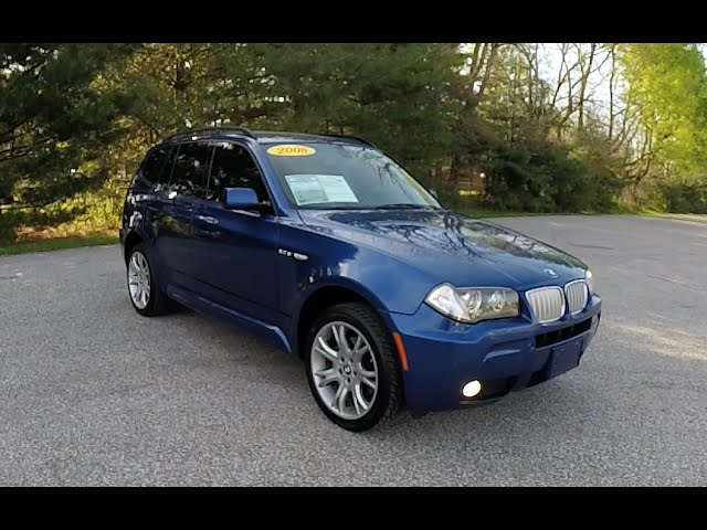 2008 Bmw X3 3 0si Msport Awd Blue Martinsville In Used Bmw Dealer P10805a Youtube