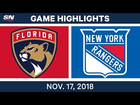 NHL Highlights | Panthers vs. Rangers – Nov. 17, 2018