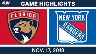 NHL Highlights | Panthers vs. Rangers – Nov. 17, 2018