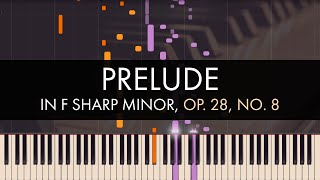 Frédéric Chopin - Prelude in F sharp Minor, Op. 28, No. 8 (Synthesia)