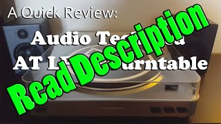 a quick review audio technica at lp 60 fully automatic turntable
