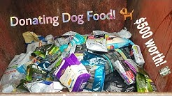 DONATING $500 WORTH OF DUMPSTER DIVED DOG FOOD! How wasteful PETSMART REALLY is!