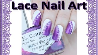 "Free hand nail design / Кружевной дизайн от руки(Hello! In this video I use: *El Corazon nail polish from http://en.elcorazon-shop.com use my code ""yagala-ec10%"" to get 10% off on http://en.elcorazon-shop.com ..., 2016-02-09T13:31:48.000Z)"