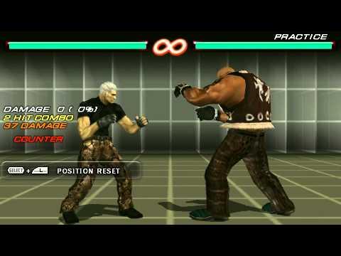 Tekken 6 Psp Bryan Fury Combo Exhibition Youtube