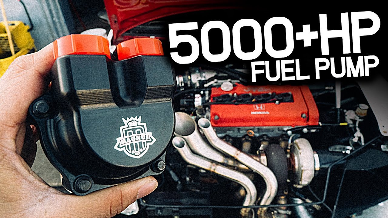 We Put A 5000HP Fuel Pump On A Honda Civic