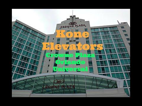 Kone Traction Glass & Internal Elevators @ Crowne Plaza Orlando Universal In Orlando, FL