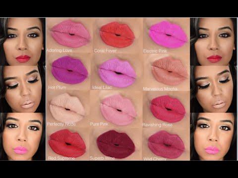 Avon Matte Lipsticks Swatches Youtube