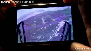 F-SIM Space Shuttle HD 720p - Kennedy Space Center - Full Approach