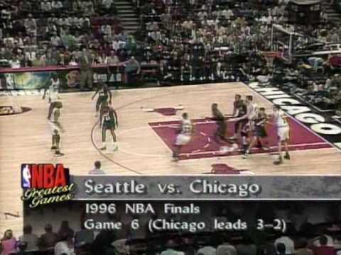 Bulls vs. Sonics 1996 NBA Finals game 6 (7/...)