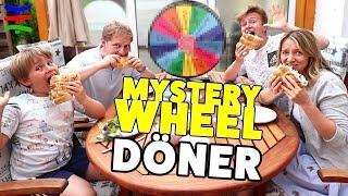 GLÜCKSRAD DÖNER Challenge 🤣  Mystery Wheel of Döner 😂 TipTapTube Family 👨👩👦👦