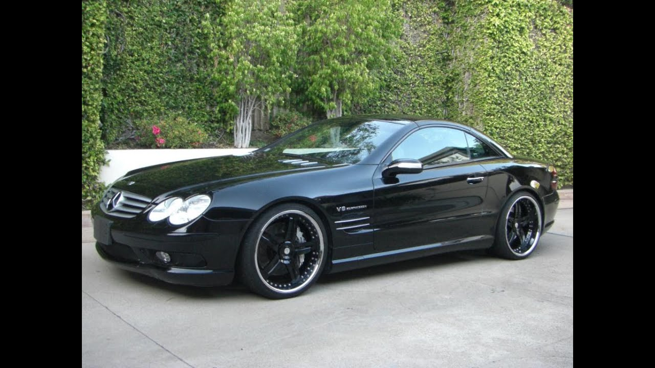 mercedes benz sl55 amg v8 kompressor full black youtube. Black Bedroom Furniture Sets. Home Design Ideas
