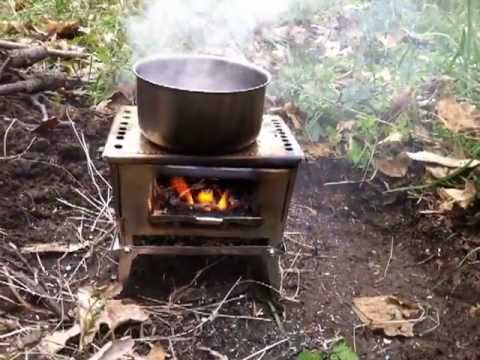 Home made mini folding stove youtube for How to make a small stove