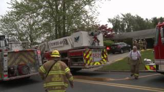 Apparatus arriving to a house fire | East Allen Twp., PA. 05.09.15
