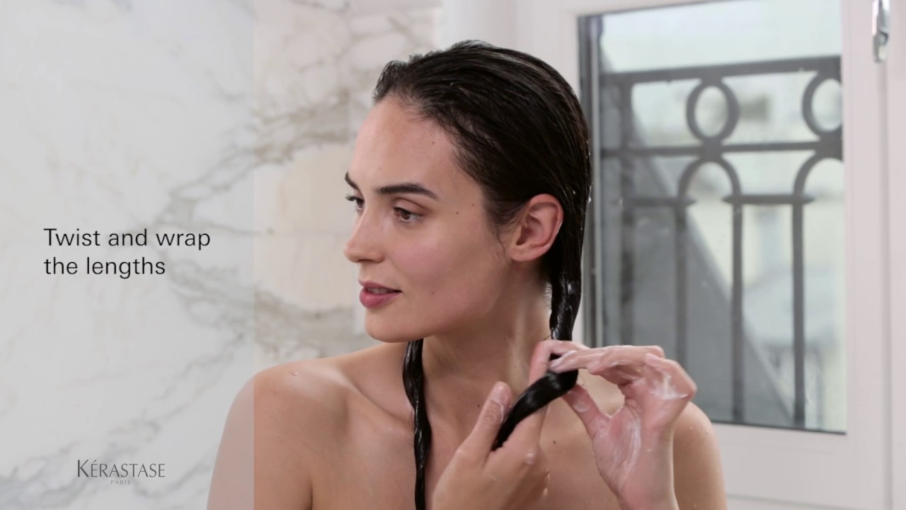 How To Use A Kerastase Hair Mask Youtube