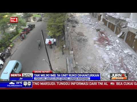 Drone Report: Kompleks Ruko di Pejagalan Digusur Dinas Tata Kota