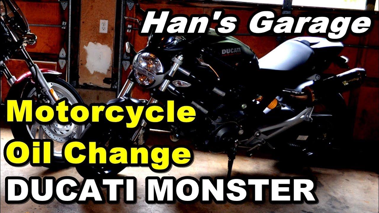 ducati monster oil change stepstep - youtube