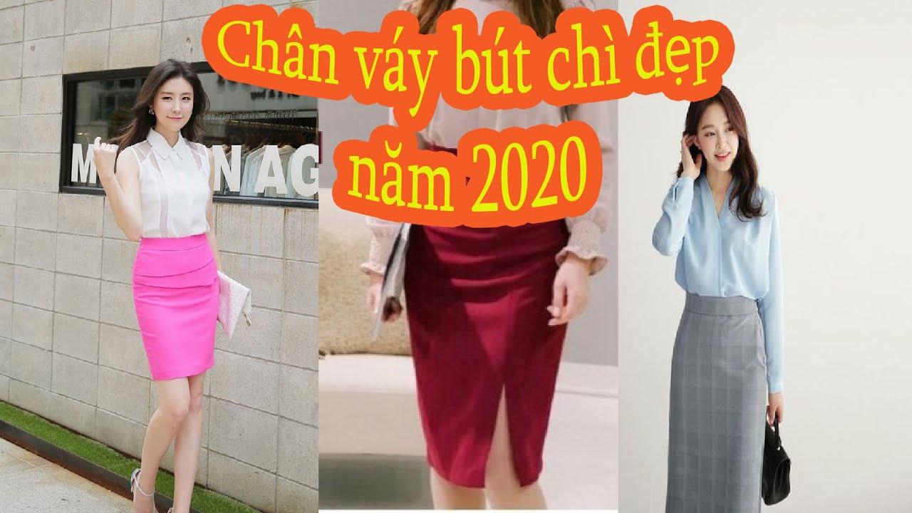 Thời trang 2020 những mẫu chân váy bút chì hot nhất 2020