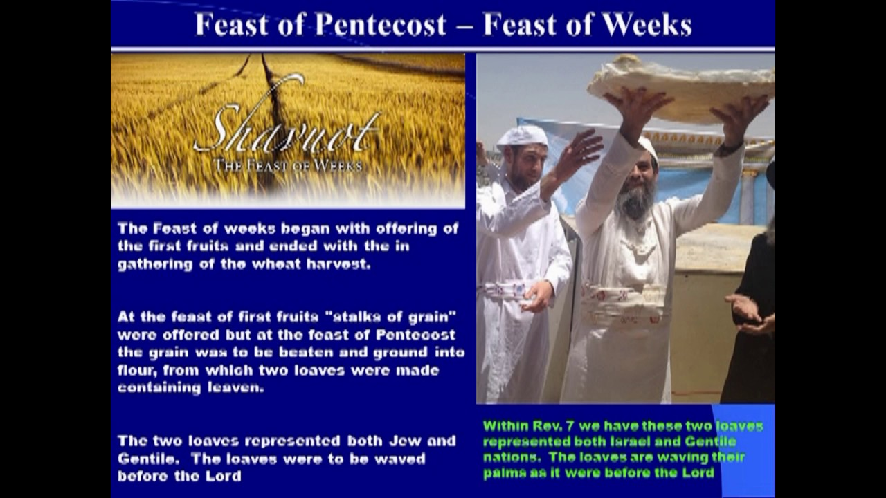 Israel's Feast Days and The Feast of Weeks or Pentecost ...