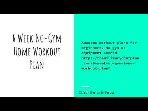 6 Week No-Gym Home Workout Plan - YouTube