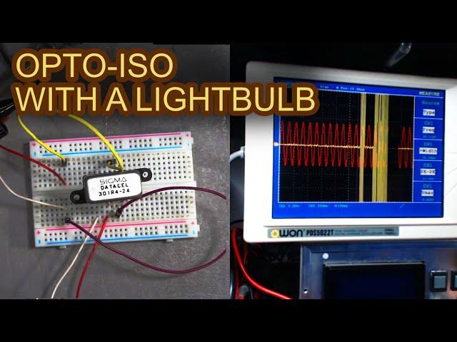 An Opto-Isolator with an Incandescent Bulb? (Teardown)