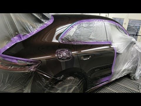 Porsche Macan S, Spray Painting: Mahogany